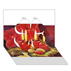 Holiday Candles  Clover 3d Greeting Card (7x5)