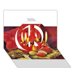 Holiday Candles  Peace Sign 3D Greeting Card (7x5)