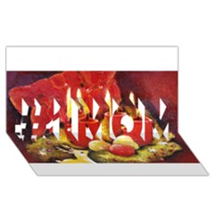 Holiday Candles  #1 MOM 3D Greeting Cards (8x4)
