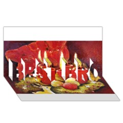 Holiday Candles  Best Bro 3d Greeting Card (8x4)