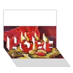 Holiday Candles  HOPE 3D Greeting Card (7x5)