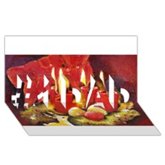 Holiday Candles  #1 DAD 3D Greeting Card (8x4)