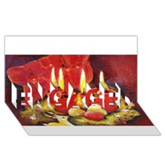 Holiday Candles  ENGAGED 3D Greeting Card (8x4)