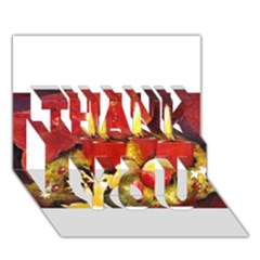 Holiday Candles  THANK YOU 3D Greeting Card (7x5)