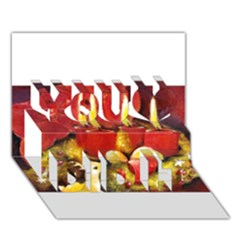 Holiday Candles  You Did It 3D Greeting Card (7x5)