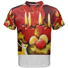 Holiday Candles  Men s Cotton Tees