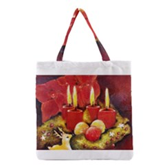 Holiday Candles  Grocery Tote Bags