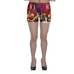 Holiday Candles  Skinny Shorts