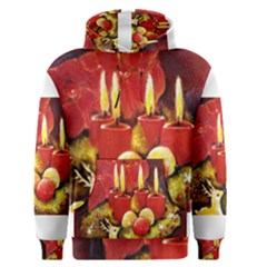 Holiday Candles  Men s Pullover Hoodies
