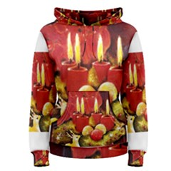 Holiday Candles  Women s Pullover Hoodies