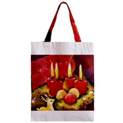 Holiday Candles  Zipper Classic Tote Bags