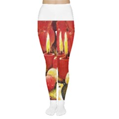 Holiday Candles  Women s Tights