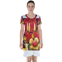 Holiday Candles  Short Sleeve Nightdresses