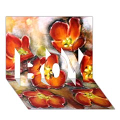 Fall Flowers BOY 3D Greeting Card (7x5)