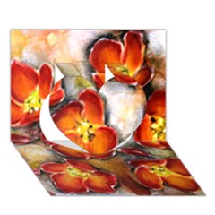 Fall Flowers Heart 3D Greeting Card (7x5)