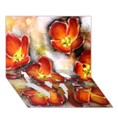 Fall Flowers Love Bottom 3d Greeting Card (7x5)