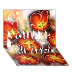 Fall Flowers You Are Invited 3d Greeting Card (7x5)