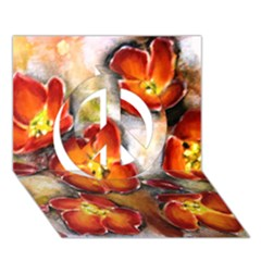 Fall Flowers Peace Sign 3d Greeting Card (7x5)