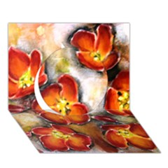 Fall Flowers Circle 3d Greeting Card (7x5)