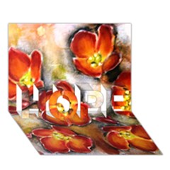 Fall Flowers HOPE 3D Greeting Card (7x5)