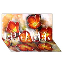 Fall Flowers Engaged 3d Greeting Card (8x4)