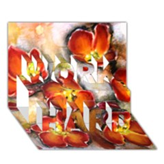 Fall Flowers WORK HARD 3D Greeting Card (7x5)