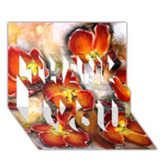 Fall Flowers THANK YOU 3D Greeting Card (7x5)