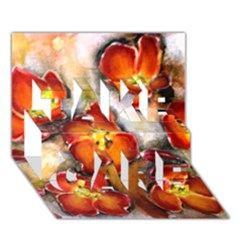 Fall Flowers TAKE CARE 3D Greeting Card (7x5)