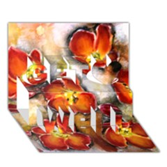 Fall Flowers Get Well 3d Greeting Card (7x5)