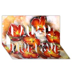 Fall Flowers Laugh Live Love 3D Greeting Card (8x4)