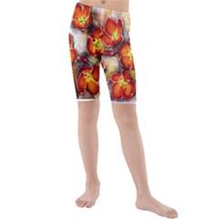 Fall Flowers Kid s swimwear