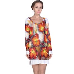 Fall Flowers Long Sleeve Nightdresses