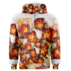 Fall Flowers Men s Zipper Hoodies
