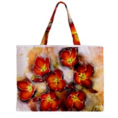 Fall Flowers Zipper Tiny Tote Bags