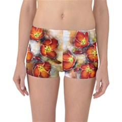 Fall Flowers Reversible Boyleg Bikini Bottoms