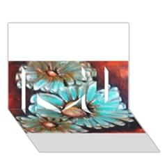 Fall Flowers No  2 I Love You 3d Greeting Card (7x5)