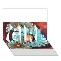Fall Flowers No. 2 GIRL 3D Greeting Card (7x5)
