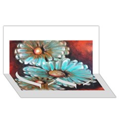 Fall Flowers No. 2 Twin Heart Bottom 3D Greeting Card (8x4)