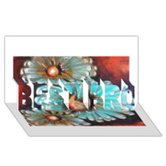 Fall Flowers No. 2 BEST BRO 3D Greeting Card (8x4)