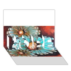 Fall Flowers No. 2 HOPE 3D Greeting Card (7x5)