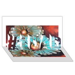 Fall Flowers No. 2 #1 DAD 3D Greeting Card (8x4)
