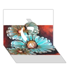 Fall Flowers No. 2 Ribbon 3D Greeting Card (7x5)
