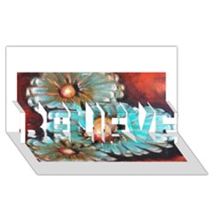 Fall Flowers No. 2 BELIEVE 3D Greeting Card (8x4)