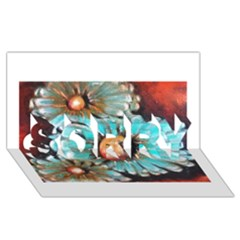 Fall Flowers No. 2 SORRY 3D Greeting Card (8x4)