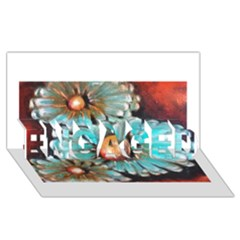 Fall Flowers No. 2 ENGAGED 3D Greeting Card (8x4)