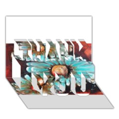 Fall Flowers No. 2 THANK YOU 3D Greeting Card (7x5)