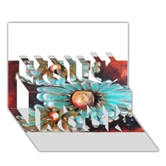 Fall Flowers No  2 You Rock 3d Greeting Card (7x5)