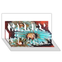 Fall Flowers No  2 Merry Xmas 3d Greeting Card (8x4)