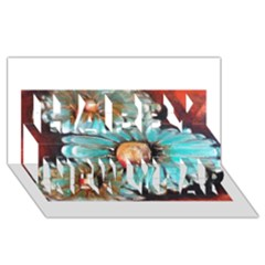 Fall Flowers No. 2 Happy New Year 3D Greeting Card (8x4)