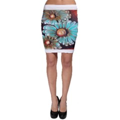 Fall Flowers No. 2 Bodycon Skirts